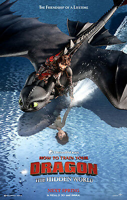 HOW TO TRAIN YOUR DRAGON 3 THE HIDDEN WORLD MOVIE POSTER DS ORIGINAL C 27x40