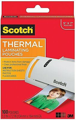 Scotch Thermal Laminating Pouches 100pk Tp5903-100