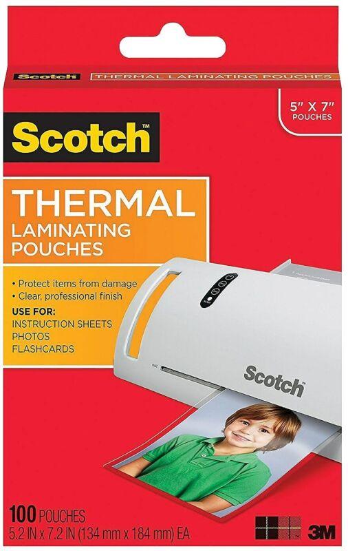 Scotch Thermal Laminating Pouches, 100/PK TP5903-100