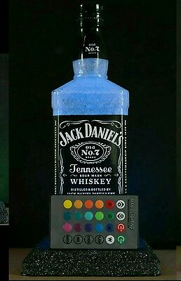 Jack Daniels Remote Control LED Bottle Lamp 16 Color Change Christmas Gift Idea, used for sale  Shipping to Canada
