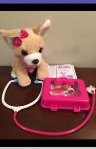 Barbie Pets - Vet set, plush puppy, excellent cond