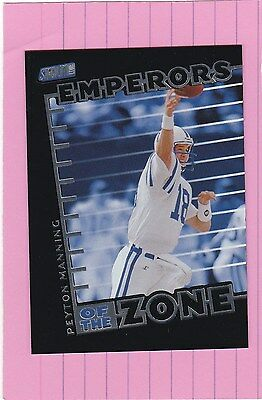 1999 STADIUM CLUB Emperors Of The Endzone PEYTON MANNING  (Colts)   (End Zone Club)