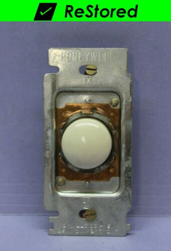 Vintage Honeywell White Tap-Lite Wall Light Switch, Push Button, Single-Pole
