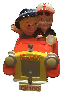 Campbell Soup Kids Going Places Car Cookie Jar Collector Limited Edition
