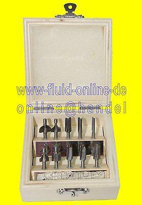 PROXXON 29020 Holzprofilfräser Set 10 tlg im Holzkasten für MP400 OFV MOF - NEU