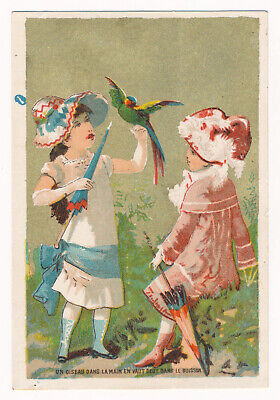 A Bird in Hand is Worth Two in the Bush - Victorian Trade Card