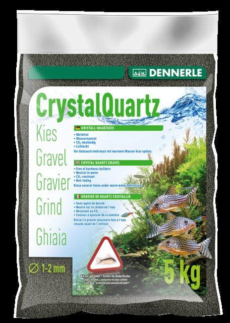 Dennerle Crystal Quartz Gravel Diamond Black 5 kg Inert for Aquarium Fish Tank
