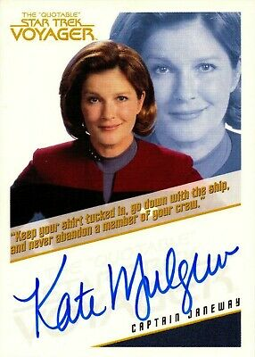 Star Trek Voyager The Quotable Autograph Card Captain Janeway Extremely Limited