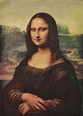 """22"""" SILK & COTTON NEEDLEPOINT ART  WOVEN PAINTING TAPESTRY: MONA LISA ="""