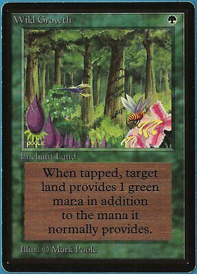 Wild Growth Beta NM Green Common MAGIC THE GATHERING CARD (ID# 195726) ABUGames