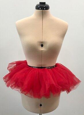 Leg Avenue Organza Tutu Costume Ballet Party Petticoat Mini Skirt Red A1705  - Organza Tutu