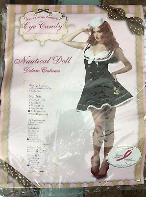 Nautical  Doll Sexy Military Sailor Navy Adult Costume  NEW Halloween Cosplay XL