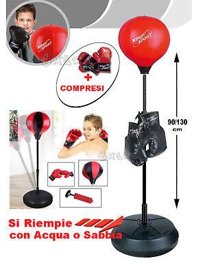 Saco de Boxeo Niños Con Boxeo Y Pie Regulable Cm. 90/130
