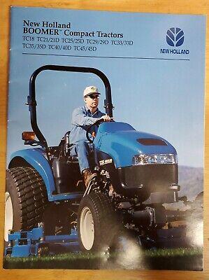 New Holland Boomer Sub-compact Tractors Brochure . Tc18 Thru Tc4545d