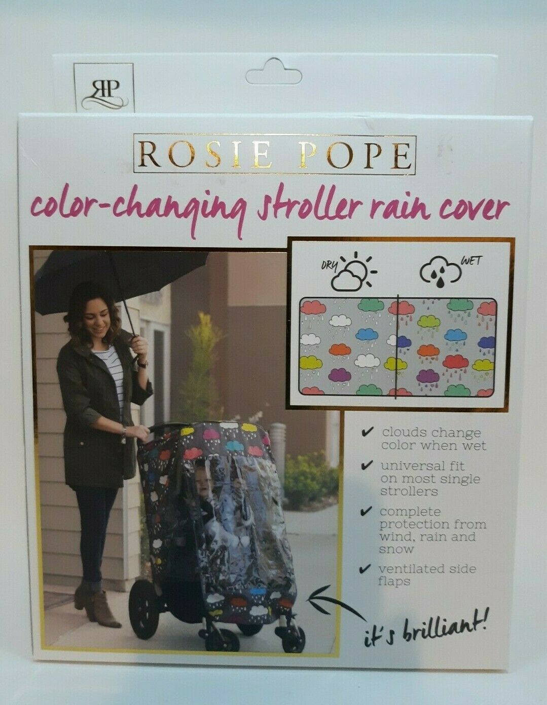 Rosie Pope Universal Weather Shield Stroller Color Changing