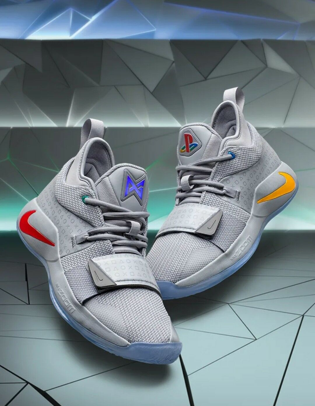check out 87c35 4832a PlayStation x Nike PG 2.5 BQ8388-001 Wolf Grey Multi-Color Men