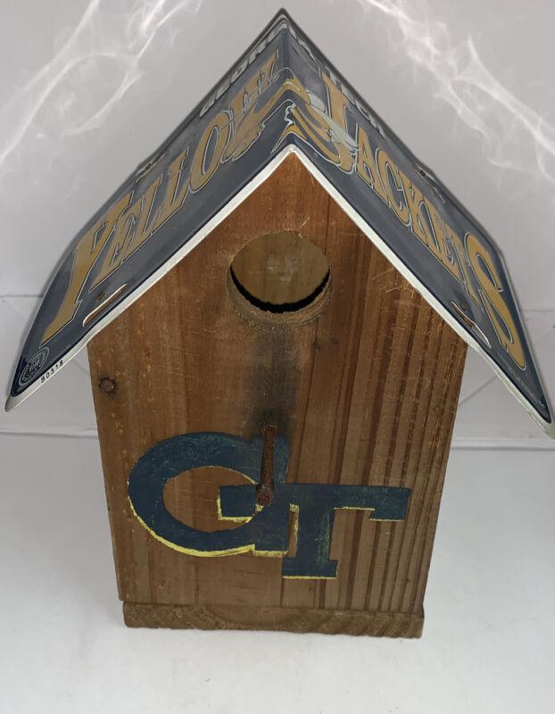 Georgia Tech Yellowjackets Wooden Bird House