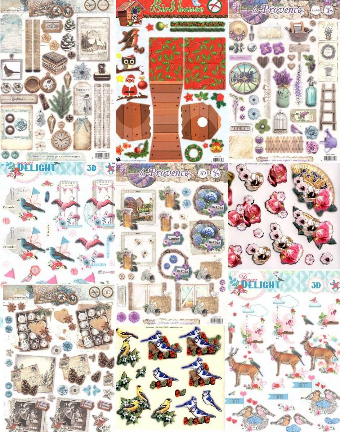 3DStanzbogen von TBZ Studiolight verschiedene zur Auswahl Tiere Vogelhaus