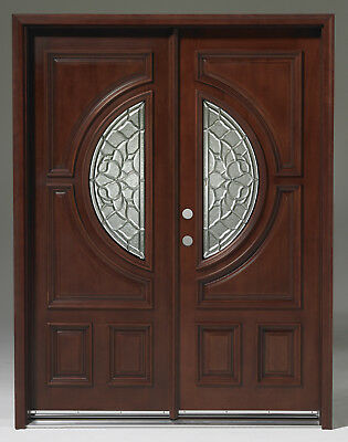 Limited Quantity!Solid Wood Mahogany Front Unit Pre-hung&Finished DMH7587-5-GL22