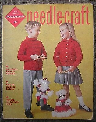 1959 Fall-Winter Modern Needle-Craft Magazine Issue #34 - Doll Cothes, Ski...