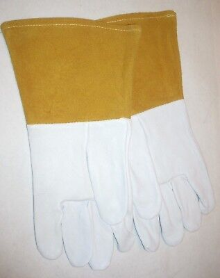 Mig Tig Welding Goatskin Leather Gloves Soft Flexible 14 Size Large