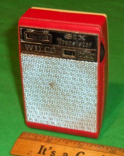 Wilco 360 Shirt Pocket 6-Transistor Radio RED/Ivory Plays! Good Cond. Japan 708