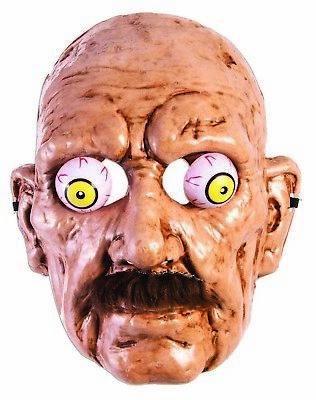 Erwachsener Mann Halloween Kostüme (Alter Mann Herren Erwachsene Halloween Gruselig Großvater Maske Kostüm)