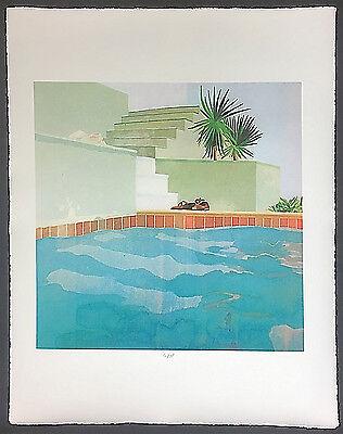 "DAVID HOCKNEY ""Pool and Steps"""