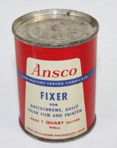Ansco Fixer Dry Chemical for Photography Photo Developing Darkroom Sealed Vtg