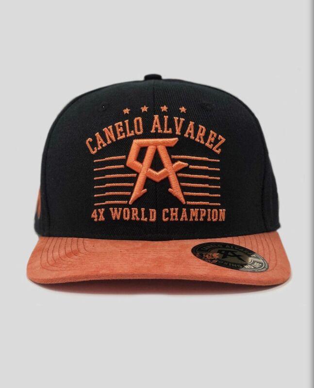 Canelo Alvarez Official Hat 4x Nice Orange Color 🇲🇽🇲🇽🇲🇽snap back design