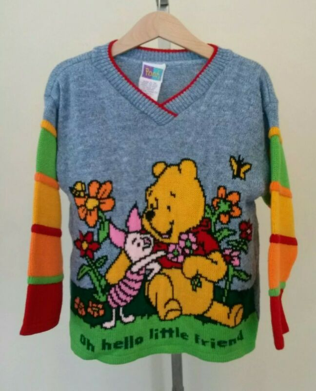 Vintage Kids Winnie the Pooh and Piglet Sweater