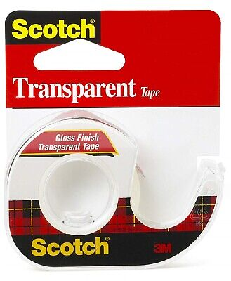 Scotch 600 Transparent Tape With Dispenser 0.50 X 1000 Inches Glossy