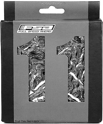 FSA Team Issue CN-1102N 11-Speed Bike Chain 116-Links fits SRAM Shimano (Fsa Team Issue)