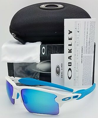 New Oakley Flak 2 0 Xl Sunglasses Matte White Sapphire 9188 02 Blue Xlj Jacket