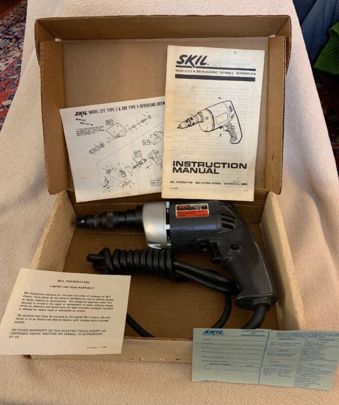 Skil Reversing Drywall Screwdriver # 289 In Box with Orig Paperwork Never Used