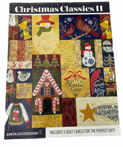 Christmas Classics II Anita Goodesign Embroidery Machine Design BOOK AND CD NEW