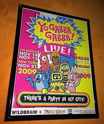 YO GABBA GABBA LIVE! THERE'S A PARTY IN MY CITY SCREEN PRINT 2009 RARE Kidrobot - Yo Gabba Gabba Party City