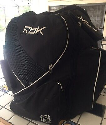 NHL Ice Hockey Adult Player Equipment Bag Embroidered By RBK Reebok