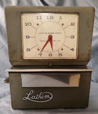 Vintage Lathem Time Clock For Partsrepair