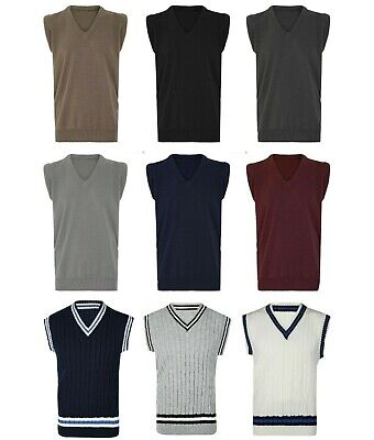 Mens V Neck Golf Cricket Bowling Sleeveless Jumper Tank Top Vest Sweater S - 5XL