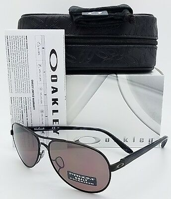 NEW Oakley Feedback sunglasses Black Prizm Daily Polarized 4079-27 Aviator grey