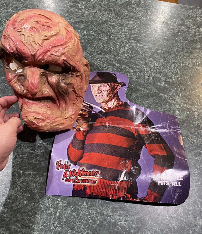 Vintage 1987 Cesar Freddy Krueger Halloween Horror Mask w/ Original Cardboard