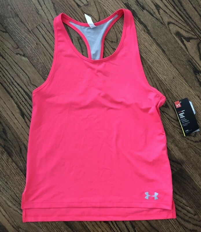 NWT Under Armour Heat Gear Racerback Tank Hot Pink Youth Large NEW