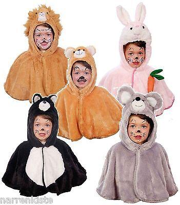 Löwe Bär Hase Katze Maus Kostüm Overall Cape Kinder Mädchen Junge Kleinkinder (Löwe Kostüm Mädchen)