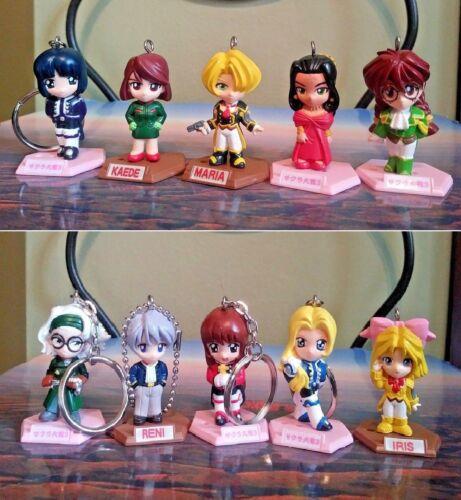 Sakura Taisen Sakura Wars Key Chains Figures Set of 10 Sega Japan