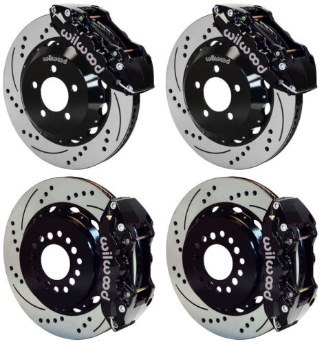 "Wilwood Disc Brake Kit,05-11 Dodge Charger,300,14"" Drilled Rotors,black Calipers"