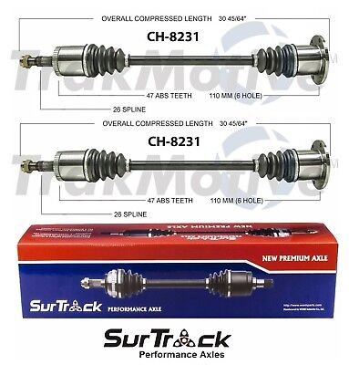 For Dodge Grand Caravan Chrysler Town&Country AWD Set of 2 Rear CV Axle Shafts