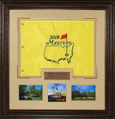 2018 Masters Official Licensed Golf Hole Flag Framed Display - Framed Masters Flag