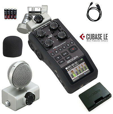 Zoom H6 Six-Track Portable Handy Recorder *New* Authorized USA Dealer