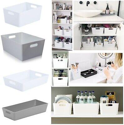 Plastic Studio Storage Basket Set For Office Home Kitchen Tidy Organiser Baskets (Plastic Baskets With Handles)